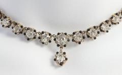 Victorian Cushion Cut Diamond Necklace - 181549
