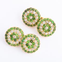 Victorian Demantoid Garnet and Diamond Double Cufflinks - 991699
