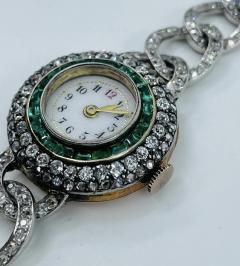 Victorian Emerald Diamond Watch - 1775578