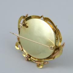 Victorian English Gold and Reverse Crystal Hunting Brooch - 112435