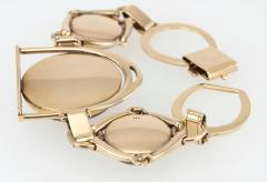 Victorian Equestrian Reverse Crystal Intaglio Gold Bracelet - 181582