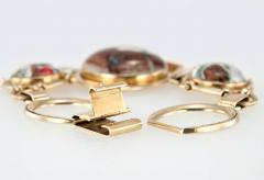 Victorian Equestrian Reverse Crystal Intaglio Gold Bracelet - 181586
