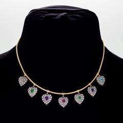 Victorian Gold Acrostic Necklace - 1135127