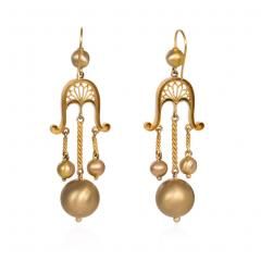 Victorian Gold Girandole Style Earrings - 1162205