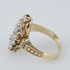 Victorian Gold and Diamond Navette Ring - 528561
