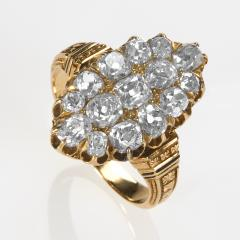 Victorian Gold and Diamond Navette Ring - 528562