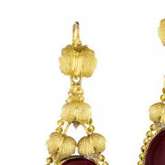Victorian Gold and Garnet Fringe Earrings - 1141191