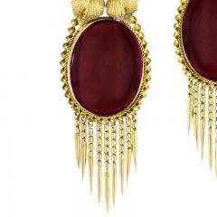 Victorian Gold and Garnet Fringe Earrings - 1141192