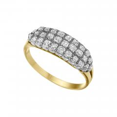 Victorian Gold and Silver Ring with Diamonds - 907616
