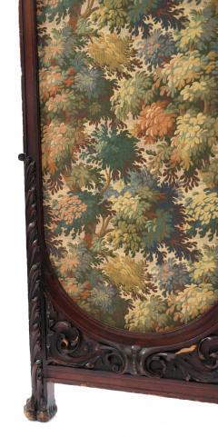 Victorian Mahogany 4 Fold Screen - 1379869