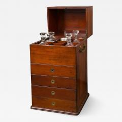 Victorian Period Mahogany Dry Bar with Humidor and Gaming Compartments - 365656