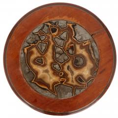 Victorian Septarian Nodule marble and mahogany occasional table - 1459552
