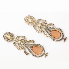 Victorian Topaz and Diamond Pendant Earrings - 253876