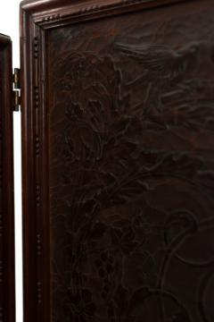 Victorian Walnut 4 Fold Screen - 1379812