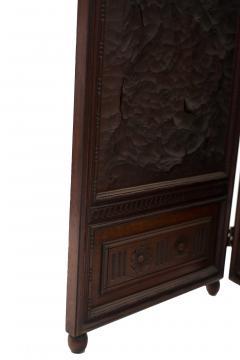 Victorian Walnut 4 Fold Screen - 1379813