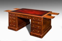Victorian mahogany antique pedestal desk - 825303