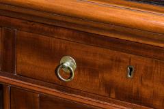 Victorian mahogany antique pedestal desk - 825305
