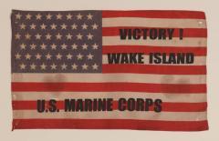 Victory at Wake Island U S Marine Corps Overprinted Parade Flag - 577690