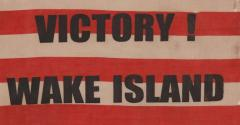 Victory at Wake Island U S Marine Corps Overprinted Parade Flag - 577692