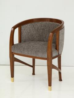 Vienna Secession Side Chair Solid wood with brass Sabots Vienna 1915  - 1092137