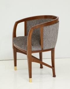 Vienna Secession Side Chair Solid wood with brass Sabots Vienna 1915  - 1092138