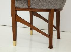 Vienna Secession Side Chair Solid wood with brass Sabots Vienna 1915  - 1092140