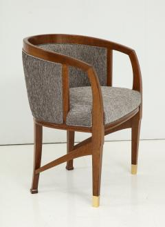 Vienna Secession Side Chair Solid wood with brass Sabots Vienna 1915  - 1092141