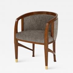 Vienna Secession Side Chair Solid wood with brass Sabots Vienna 1915  - 1093585