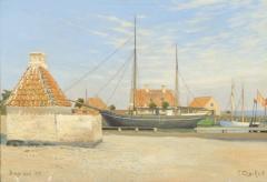 View of Dragor Harbor in Denmark - 1924816