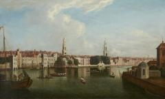 View of the Thames by Samuel Scott 1702 1772  - 626508