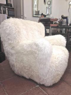 Viggo Boesen Viggo Boesen Pair of Hairy Club Chairs Covered in Sheep Skin Fur - 366727