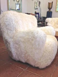 Viggo Boesen Viggo Boesen Pair of Hairy Club Chairs Covered in Sheep Skin Fur - 366728