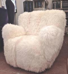 Viggo Boesen Viggo Boesen Pair of Hairy Club Chairs Covered in Sheep Skin Fur - 366729