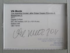 Vik Muniz A Brazilian Modern Abstract Expressionist Chromegenic Print Vik Muniz - 1339897