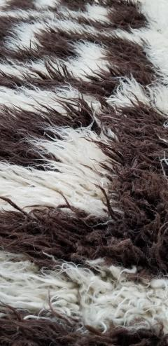 Vinatge Greek Key Wool Flokati - 853349
