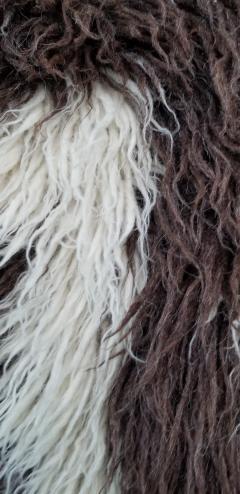 Vinatge Greek Key Wool Flokati - 853350