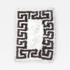 Vinatge Greek Key Wool Flokati - 854634