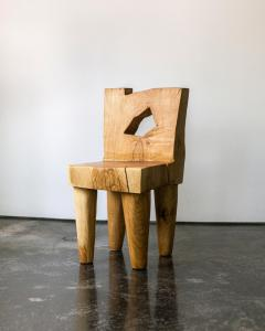 Vince Skelly Valletta Oak Chair Sculpted by Vince Skelly - 1720425