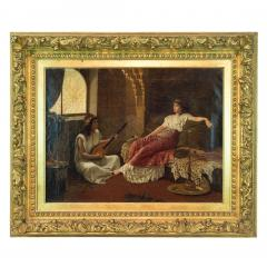 Vincent G Stiepevich A Fine Stiepevich Painting of a Lounging Odalisque in a Harem - 1472229