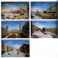 Vincenzo Chilone A set of Five Vedute scenes of Venice - 1019987
