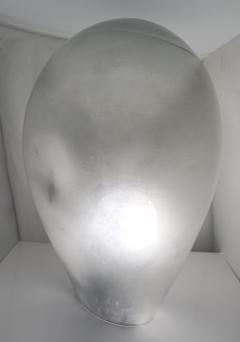 Vincenzo Nason 1970s V Nason Italian Vintage Cast Silver Mirror Glass Abstract Sculpture Lamp - 2141884