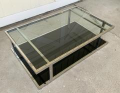 Vintage 2 Tier Coffee Table in Chrome and Glass - 1831179