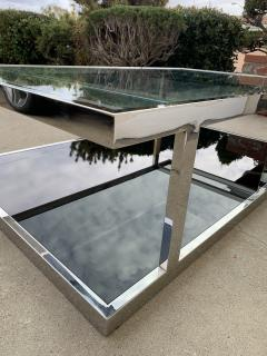 Vintage 2 Tier Coffee Table in Chrome and Glass - 1831182