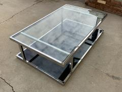 Vintage 2 Tier Coffee Table in Chrome and Glass - 1831184