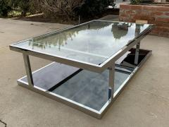 Vintage 2 Tier Coffee Table in Chrome and Glass - 1831185