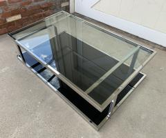 Vintage 2 Tier Coffee Table in Chrome and Glass - 1831187