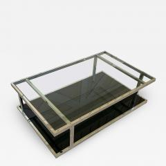 Vintage 2 Tier Coffee Table in Chrome and Glass - 1832864