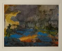 Vintage Abstract Watercolor American Circa 1940 - 1570807