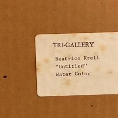 Vintage Abstract Watercolor American Circa 1940 - 1570810