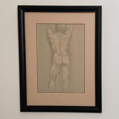 Vintage Academic Sketch of a Male Nude - 1963338